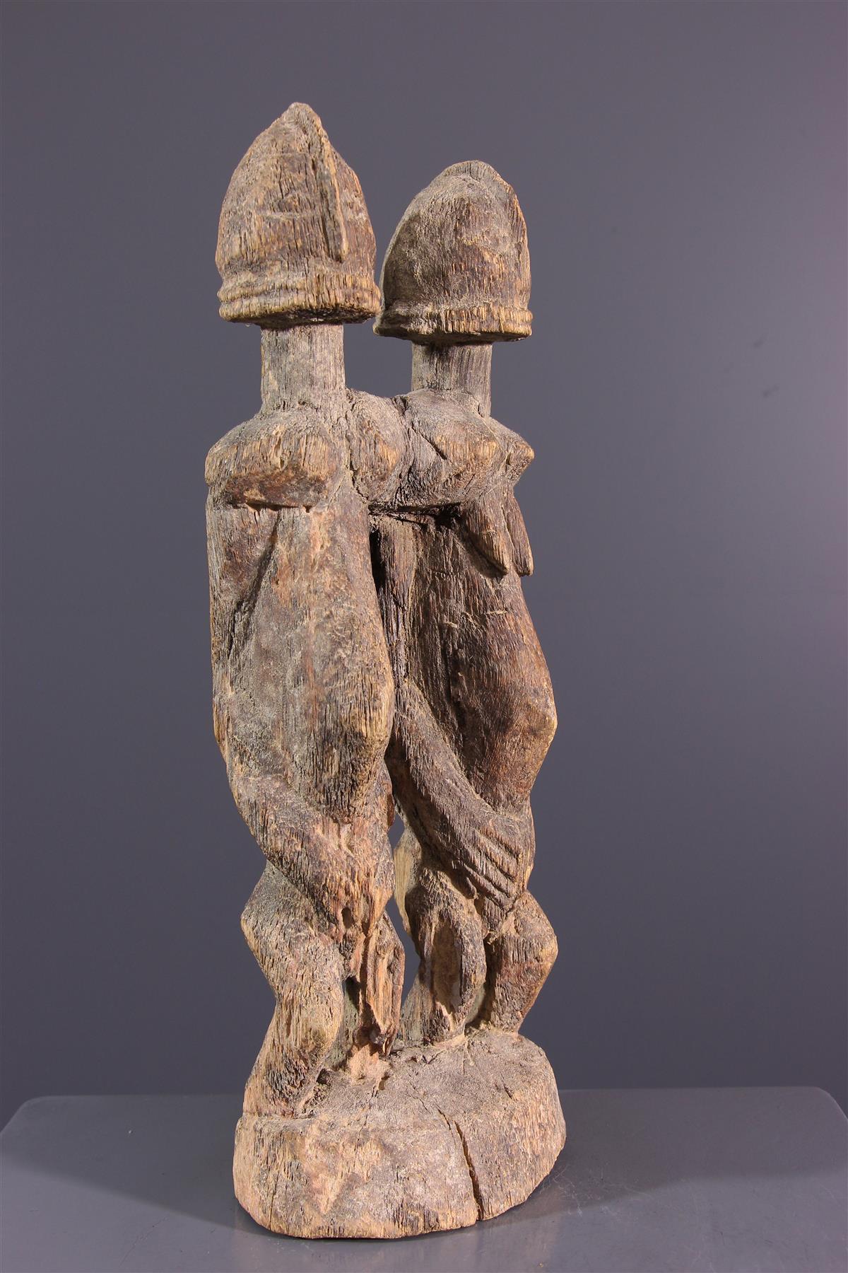 Het paar Dogon van het standbeeld - Afrikaanse kunst