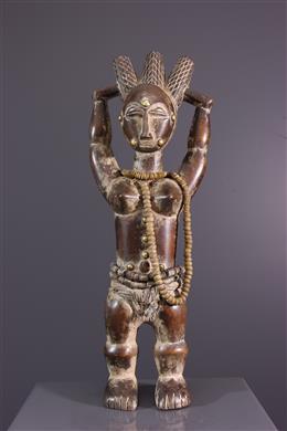 Vrouwelijke voorouder figuur - Attié Akyé - Ivoorkust
