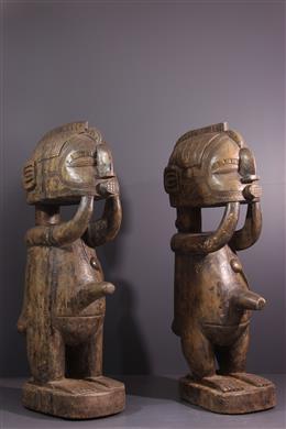 Paar Baga Nimba standbeelden