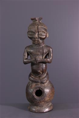 Afrikaanse kunst - Lwena Chokwe pijp