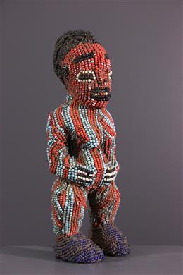 Bamoun/Bamileke Beaded standbeeld