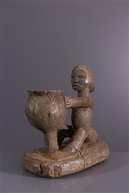 Afrikaanse kunst - Beker vervoerder Luba Shankadi