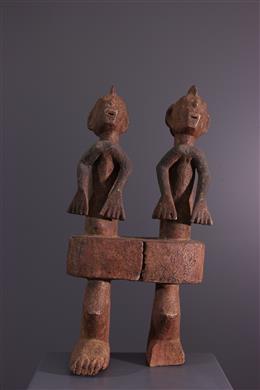 Dubbele standbeeld Chamba