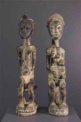 Afrikaanse kunst - Baule paar figuren