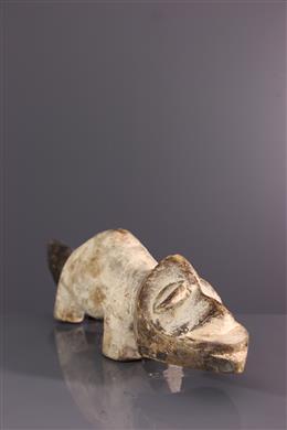Afrikaanse kunst - Lega zoömorfe figuur van Bwami