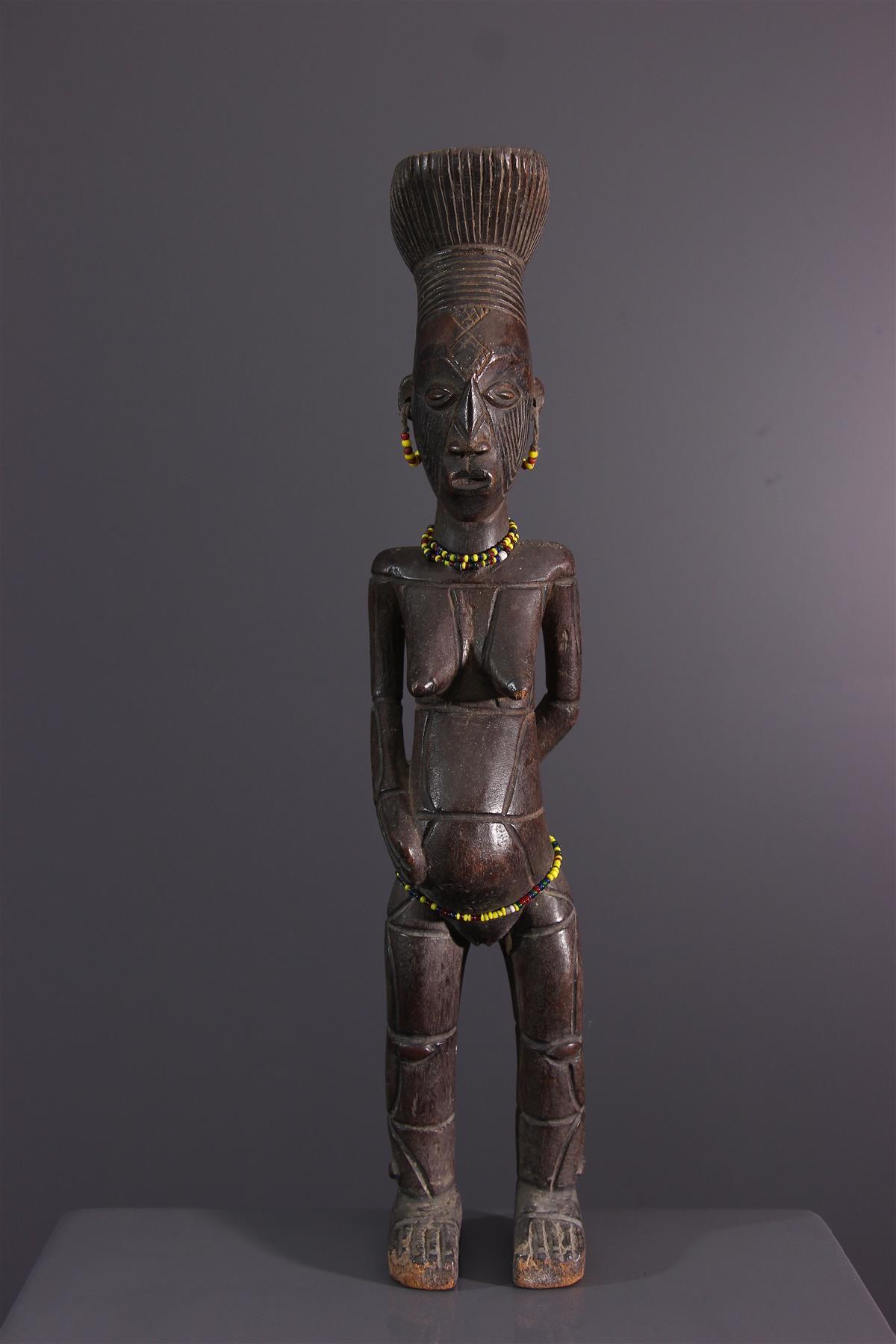 Beeldje Mangbetu - Afrikaanse kunst