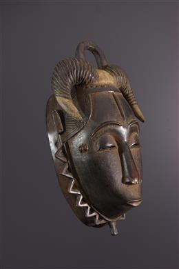 Afrikaanse kunst - Baule Ndoma Gehoornde Masker