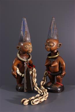Paar beeldjes Ere ibedji Yoruba