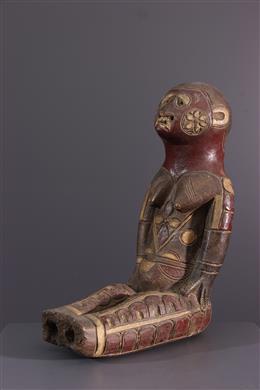Kuyu totemisch cijfer in terracotta