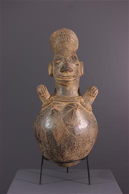 Mangbetu terracotta vaas