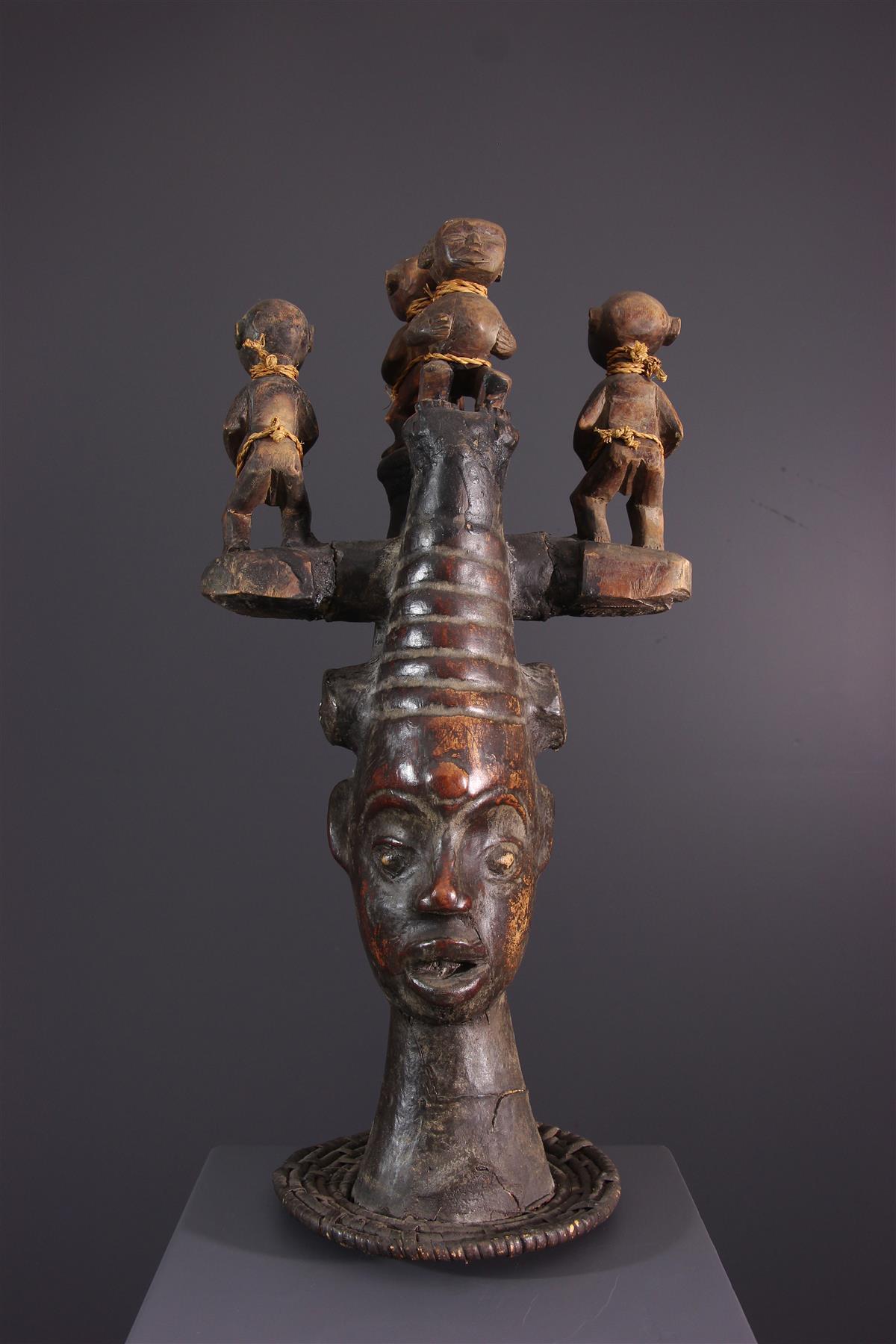 Ekoi Masker - Afrikaanse kunst