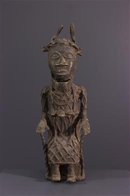 Bronzen figuur van koning Benin