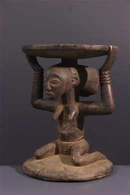 Afrikaanse kunst - Tabouret caryatide Luba/ Hemba Lupona / Kipona
