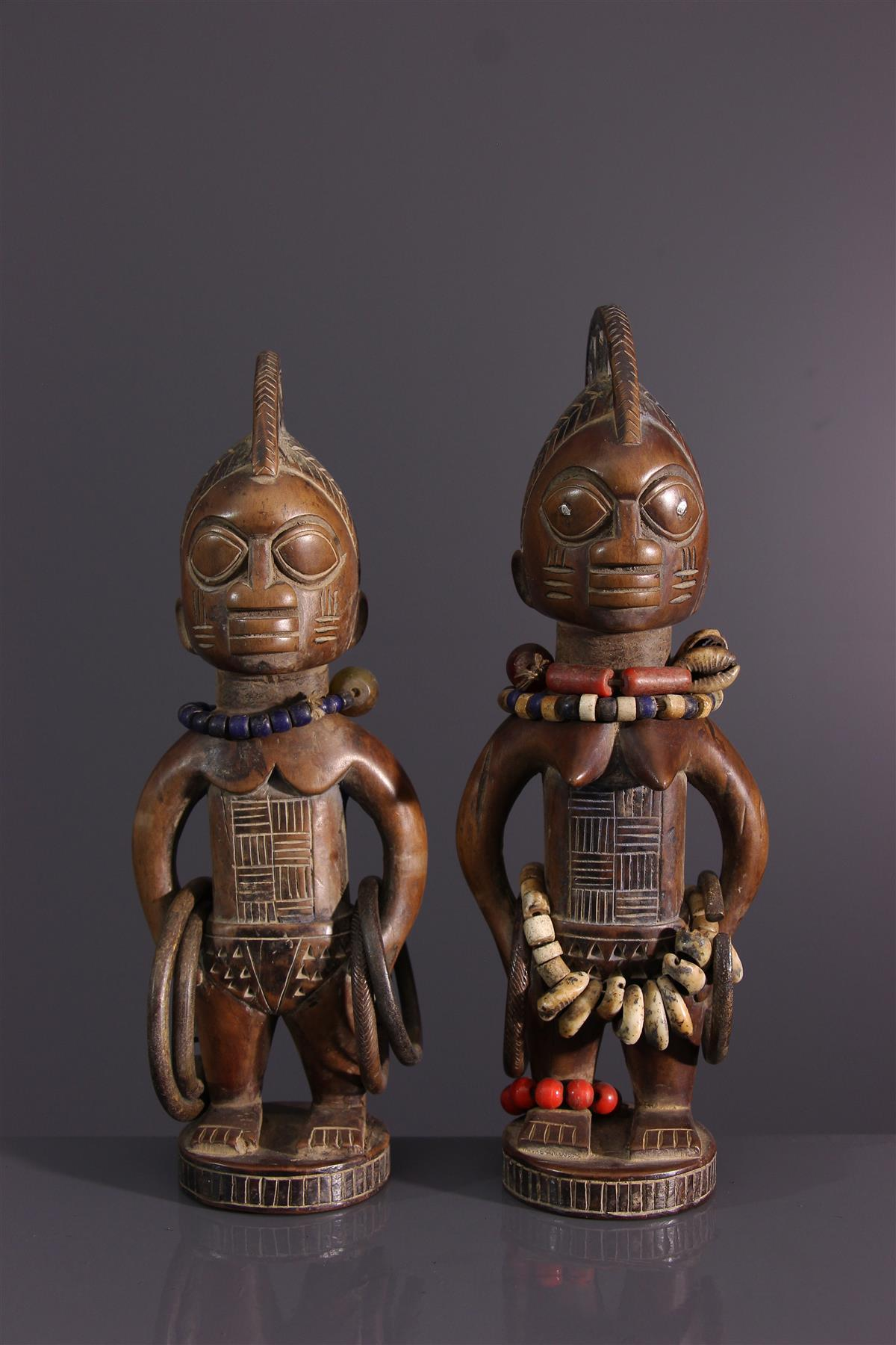Ibeji poppen - Afrikaanse kunst