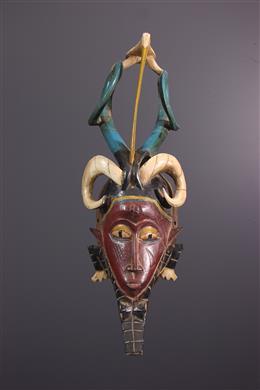 Afrikaanse kunst - Gouro/Kweni Zauli masker