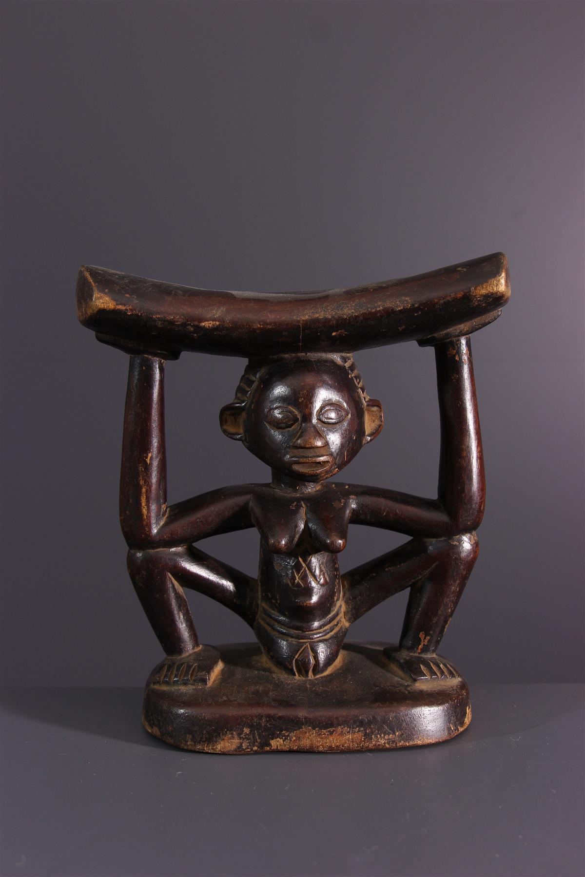 Luba hoofdsteun - Afrikaanse kunst