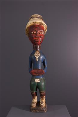 Afrikaanse kunst - Het kolonistenstandbeeld van Baule