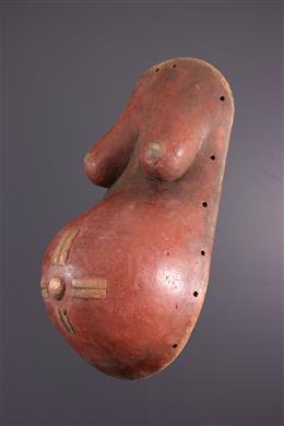 Afrikaanse kunst - Makonde Ndimu gezichtsmasker