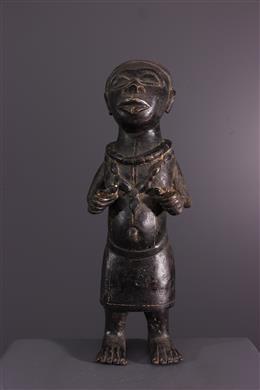 Bronzen Benin dwergfiguur