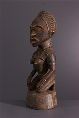 Afrikaanse kunst - Vrouwelijk cijfer Kongo Yombe Phemba