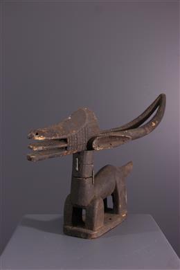 Afrikaanse kunst - Horizontale kuif Ci wara Bamana