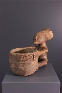 Afrikaanse kunst - Luba Cup Carrier