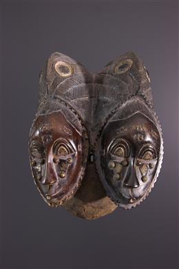 Afrikaanse kunst - Yohoure/Baoulé Twin Mask