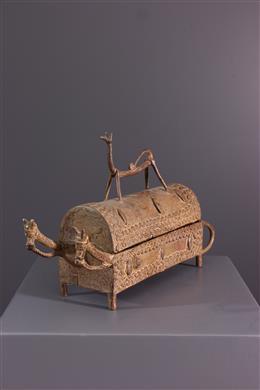Bronzen Dogon-doos