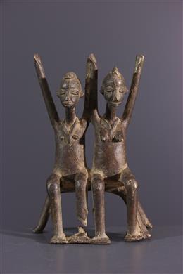 Afrikaanse kunst - Lobi paar figuren in brons