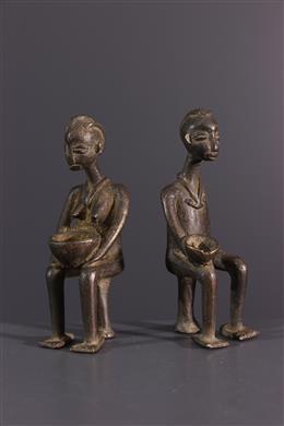 Afrikaanse kunst - Lobi beeldjes in brons