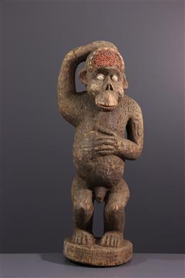 Afrikaanse kunst - Boulou, Bulu aap standbeeld
