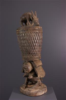 Afrikaanse kunst - Luba Shankadi koninklijke kariatide beker