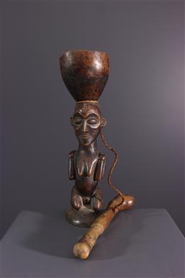 Afrikaanse kunst - Chokwe antropomorfe beker