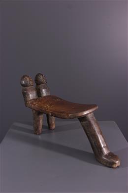 Afrikaanse kunst - Rungu/ Holoholo statief nekpers