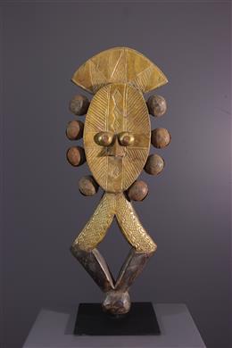 Figuur van Reliquary Kota Mbulu-Ngulu