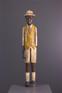 "Afrikaanse kunst - Figuur van ""colon"" African Baule, Baoulé"