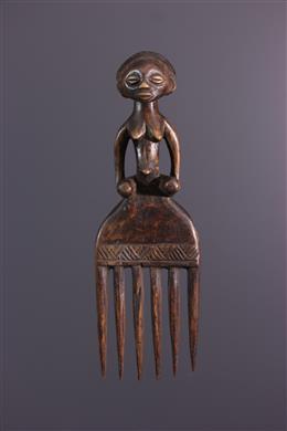 Afrikaanse kunst - Luba kam met vrouwelijk motief