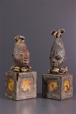 Paar Ibeji Yoruba beeldjes