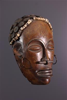 Afrikaanse kunst - Lwena Linya Pwo Masker