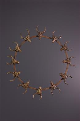Afrikaanse kunst - Bamoun Mgba-Mgba inductie ketting