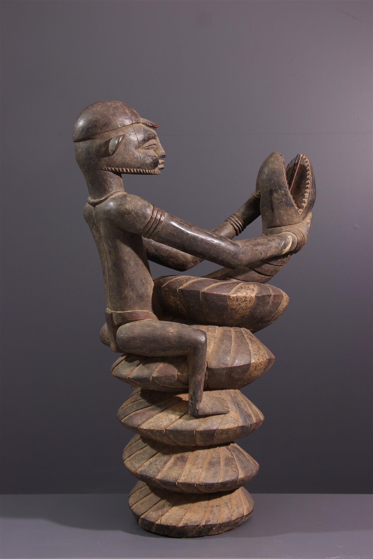 Senoufo standbleed - Afrikaanse kunst