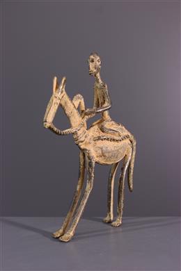 Dogon bronzen ruiter beeldje