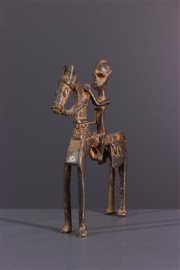 Dogon ruiter in brons