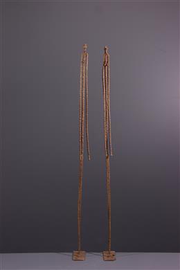 Afrikaanse kunst - Bronzen Dogon oerpaar figuren