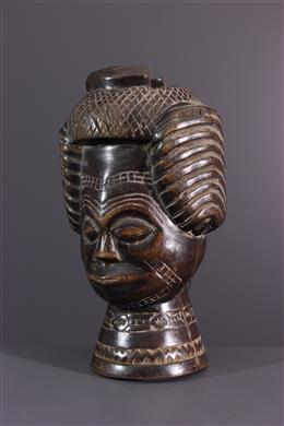 Afrikaanse kunst - Gesneden beker Kuba Lele