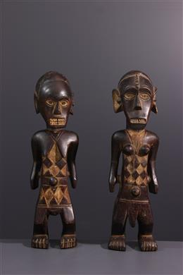 Paar Ngbandi standbeelden