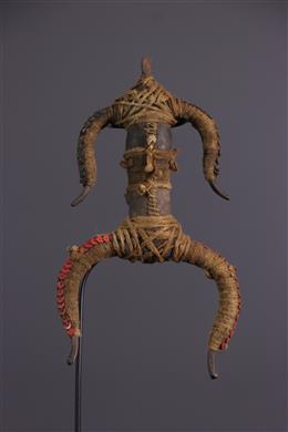 Afrikaanse kunst - Namji / Matakam fetisj pop in brons