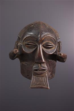 Afrikaanse kunst - Groot Luba Mukisi a kukaya helmmasker