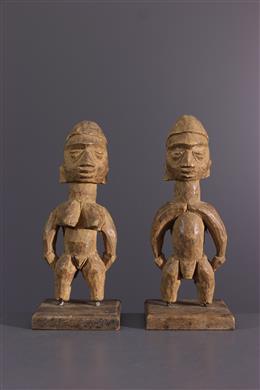 Afrikaanse kunst - Paar Ewe Venavi beeldjes