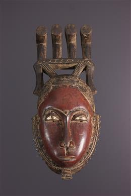 Afrikaanse kunst - Yohoure Kokole Kwain masker van Dja